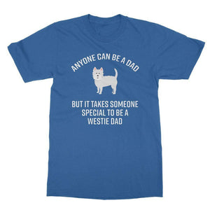 Special Westie Dad Softstyle T-shirt Apparel kite.ly S Royal Blue