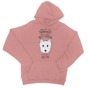 Whoever Said Diamonds College Hoodie Apparel kite.ly S Dusty Pink
