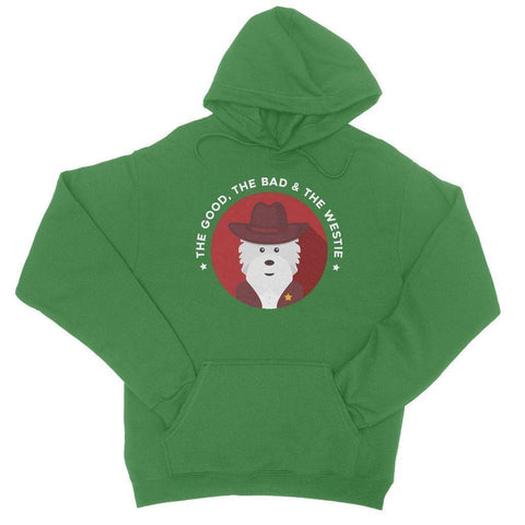 The Good, The Bad and The Westie Hoodie Apparel kite.ly S Kelly Green