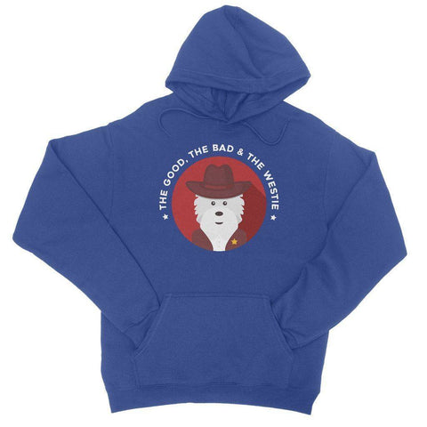 Image of The Good, The Bad and The Westie Hoodie Apparel kite.ly S Royal Blue