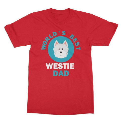 World's Best Westie Dad Tee Apparel kite.ly S Red