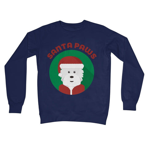 Image of Santa Paws Crew Neck Sweatshirt Apparel kite.ly S New French Navy