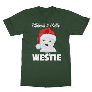 Christmas is better with a Westie Softstyle T-shirt Apparel kite.ly S Forest Green