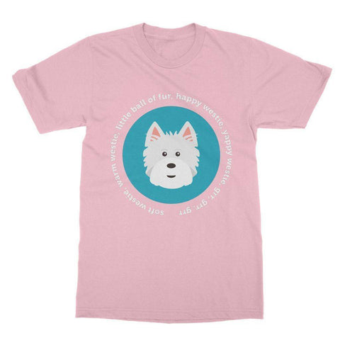 Image of Happy Westie - Big Bang Theory Softstyle T-shirt Apparel kite.ly S Light Pink