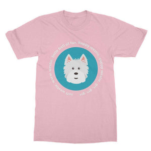 Happy Westie - Big Bang Theory Softstyle T-shirt Apparel kite.ly S Light Pink