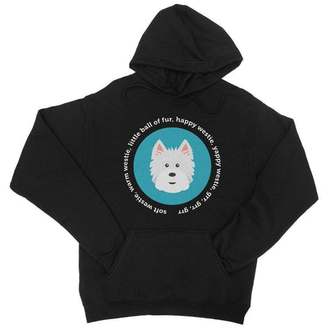 Image of Happy Westie - Big Bang Theory College Hoodie Apparel kite.ly S Jet Black