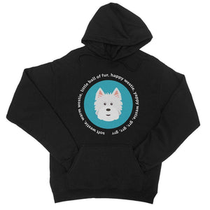 Happy Westie - Big Bang Theory College Hoodie Apparel kite.ly S Jet Black
