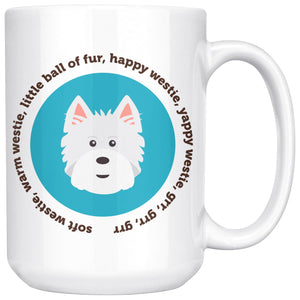 Happy Westie Mug - Big Bang Theory Mug Drinkware teelaunch 15oz Mug