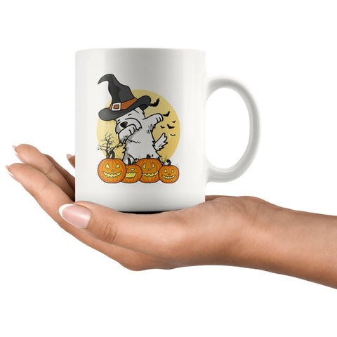 Image of Dabbing Westie Mug - Funny West Highland Terrier Mug Drinkware teelaunch
