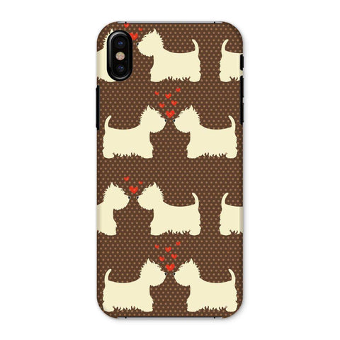 Image of Westies in Love Brown Phone Case Phone & Tablet Cases kite.ly iPhone X Snap Gloss