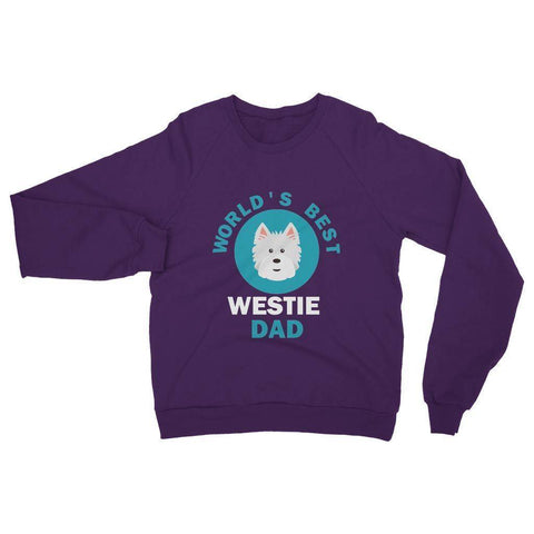 Image of World's Best Westie Dad Heavy Blend Crew Neck Sweatshirt Apparel kite.ly S Purple