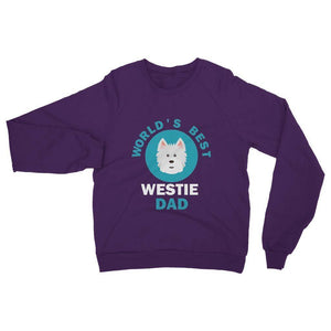 World's Best Westie Dad Heavy Blend Crew Neck Sweatshirt Apparel kite.ly S Purple