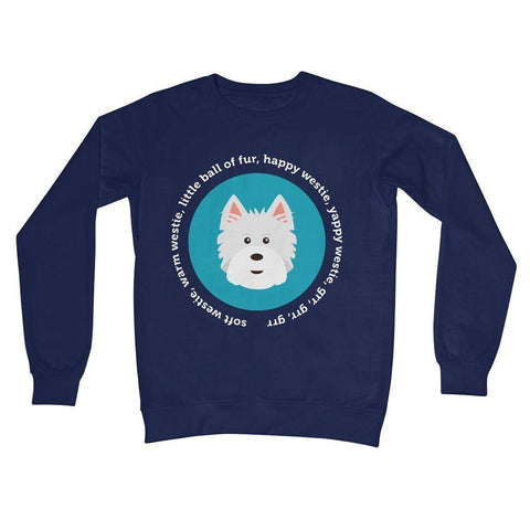 Image of Happy Westie - Big Bang Theory Crew Neck Sweatshirt Apparel kite.ly S New French Navy