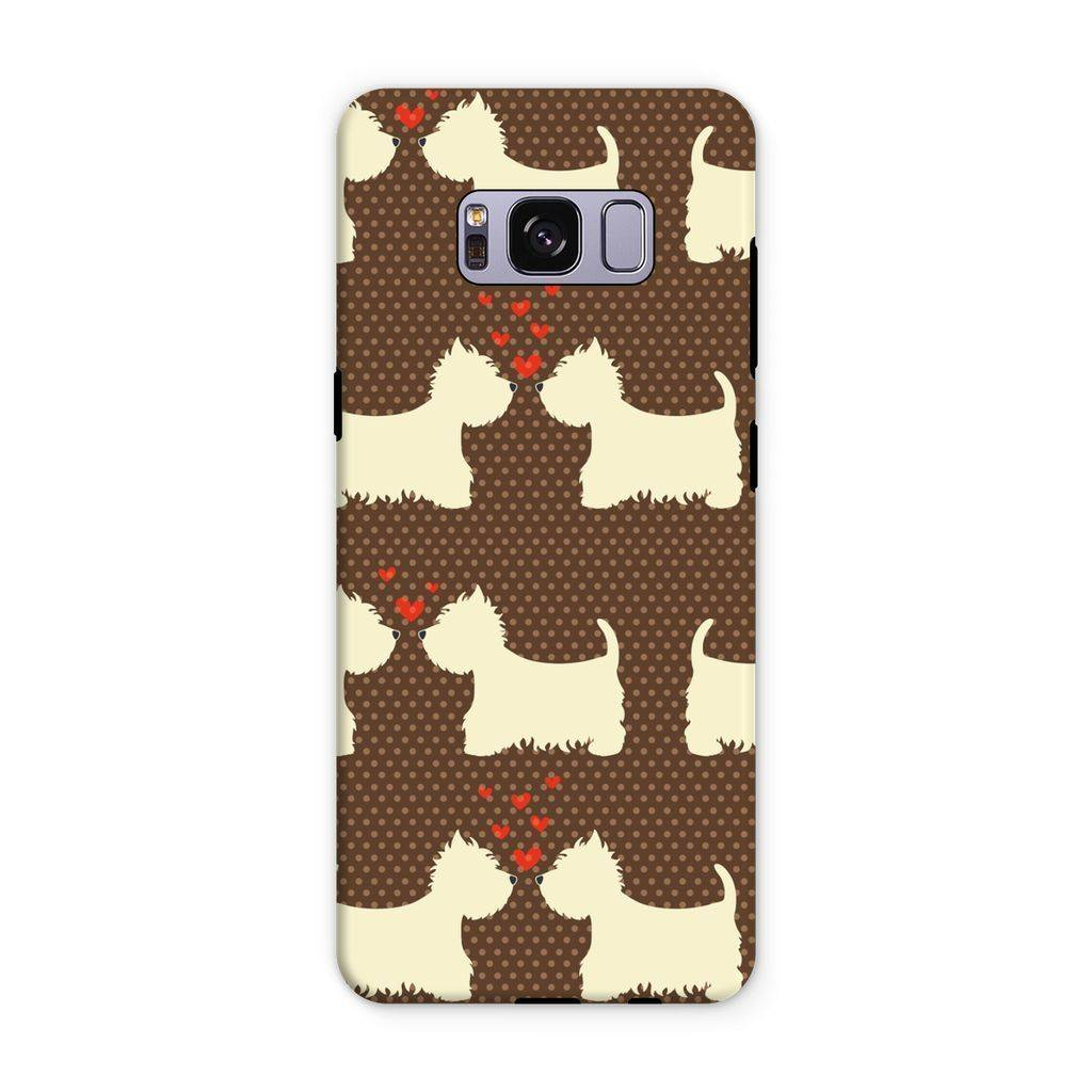 Westies in Love Brown Phone Case Phone & Tablet Cases kite.ly Samsung S8 Plus Tough Gloss
