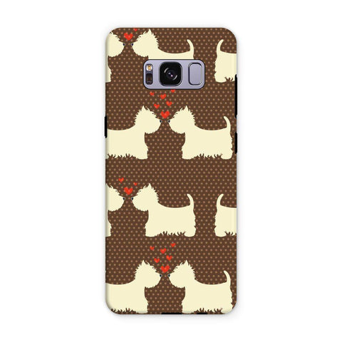 Image of Westies in Love Brown Phone Case Phone & Tablet Cases kite.ly Samsung S8 Plus Tough Gloss