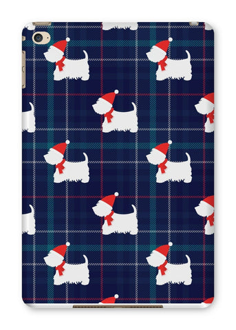 Blue Tartan Westie in a Hat and Scarf Tablet Cases Phone & Tablet Cases kite.ly iPad Mini 4 Gloss