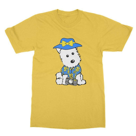 Summer Holiday Westie Softstyle T-shirt Apparel kite.ly S Daisy