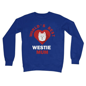 World's Best Westie Mum Crew Neck Sweatshirt Apparel kite.ly S Royal Blue