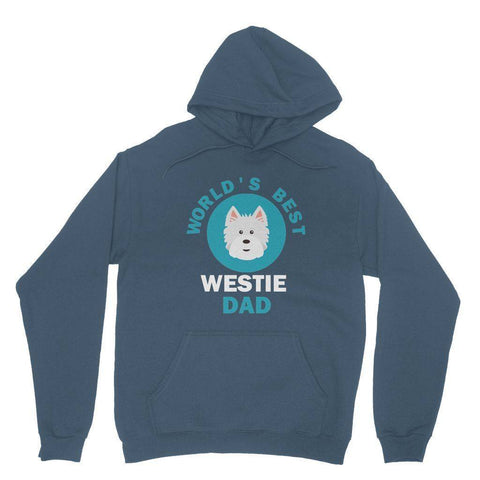 World's Best Westie Dad Hoodie Apparel kite.ly S Indigo Blue