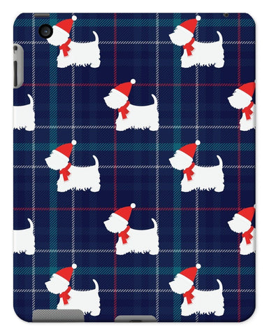 Image of Blue Tartan Westie in a Hat and Scarf Tablet Cases Phone & Tablet Cases kite.ly iPad 2/3/4 Gloss