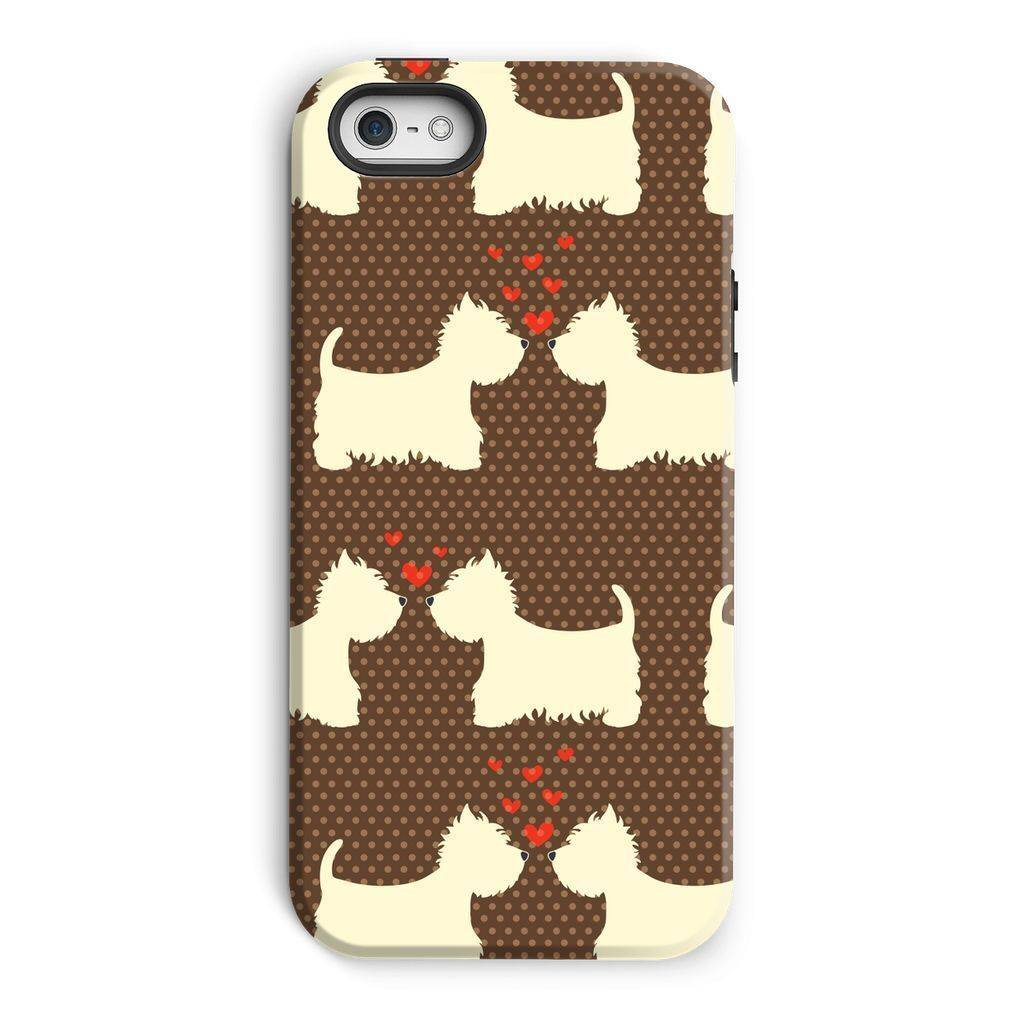 Westies in Love Brown Phone Case Phone & Tablet Cases kite.ly iPhone 5/5s Tough Gloss
