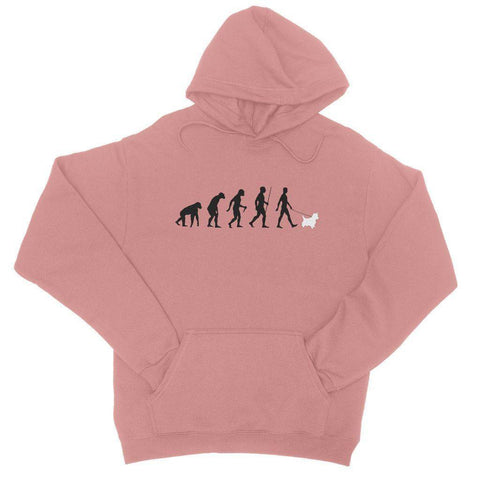 The Evolution Of Man And Westie College Hoodie Apparel kite.ly S Dusty Pink