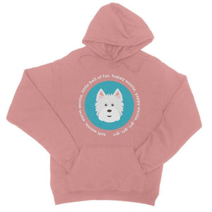 Happy Westie - Big Bang Theory College Hoodie Apparel kite.ly S Dusty Pink