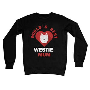 World's Best Westie Mum Crew Neck Sweatshirt Apparel kite.ly S Jet Black