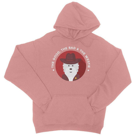 Image of The Good, The Bad and The Westie Hoodie Apparel kite.ly S Dusty Pink