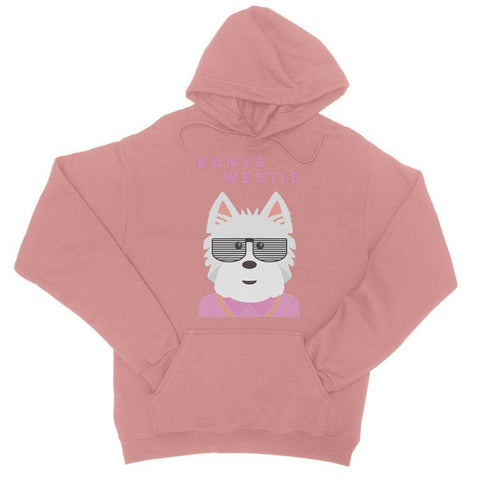 Image of Kanye Westie College Hoodie Apparel kite.ly S Dusty Pink