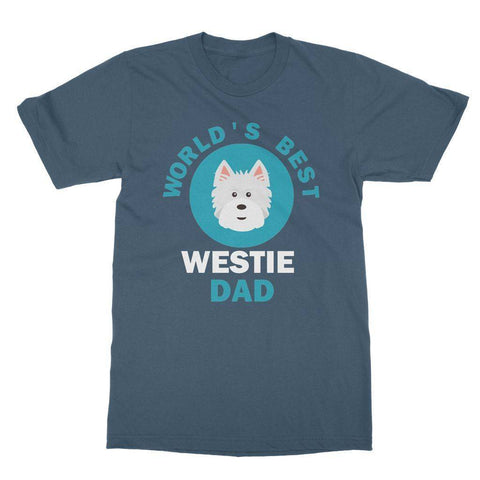 World's Best Westie Dad Tee Apparel kite.ly S Indigo Blue