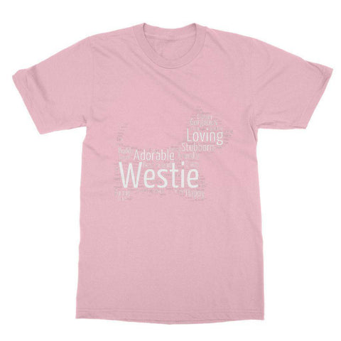 Westie Word Cloud Softstyle T-shirt Apparel kite.ly S Light Pink