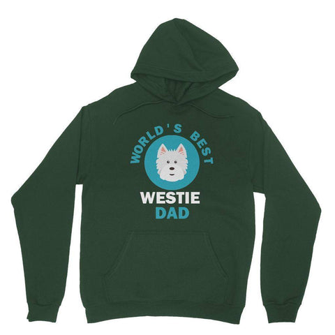 World's Best Westie Dad Hoodie Apparel kite.ly S Forest Green