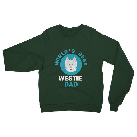 Image of World's Best Westie Dad Heavy Blend Crew Neck Sweatshirt Apparel kite.ly S Forest Green