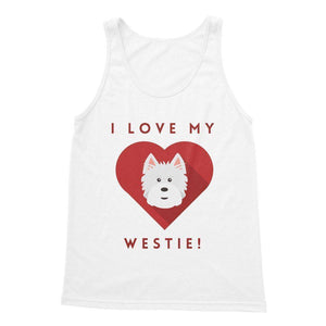 I Love My Westie Heart Softstyle Tank Top Apparel kite.ly S White