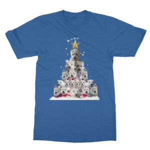 Westie Christmas Tree Softstyle T-shirt Apparel kite.ly S Royal Blue