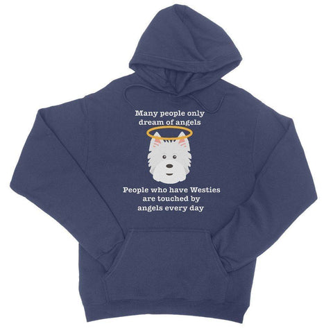 Image of Westie Angel Hoodie Apparel kite.ly S New French Navy