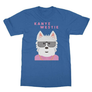 Kanye Westie Softstyle T-shirt Apparel kite.ly S Royal Blue