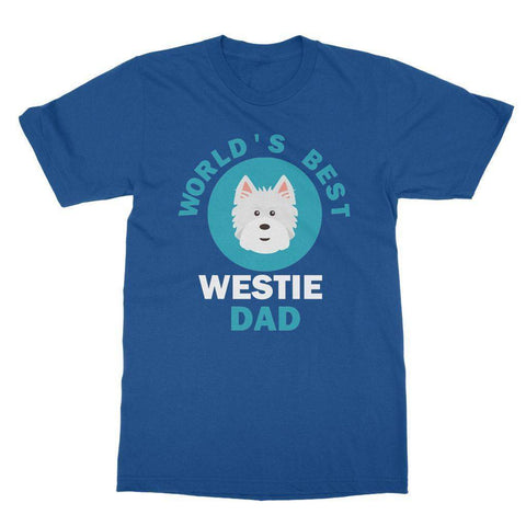 Image of World's Best Westie Dad Tee Apparel kite.ly S Royal Blue