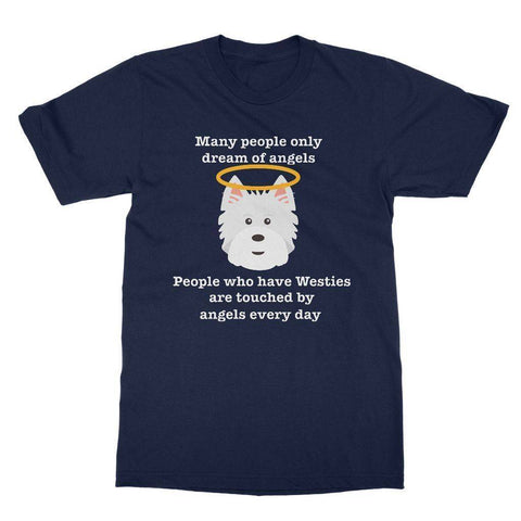 Westie Angel Softstyle T-shirt Apparel kite.ly S Navy