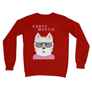 Kanye Westie Crew Neck Sweatshirt Apparel kite.ly S Fire Red