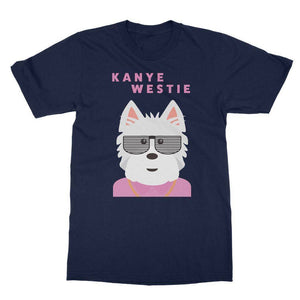 Kanye Westie Softstyle T-shirt Apparel kite.ly S Navy