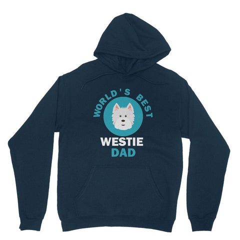World's Best Westie Dad Hoodie Apparel kite.ly XS Navy