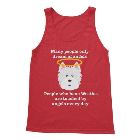 Image of Westie Angel Softstyle Tank Top