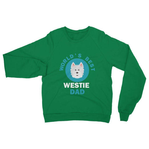 Image of World's Best Westie Dad Heavy Blend Crew Neck Sweatshirt Apparel kite.ly S Irish Green