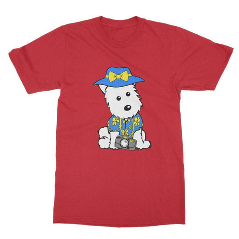 Summer Holiday Westie Softstyle T-shirt Apparel kite.ly S Red