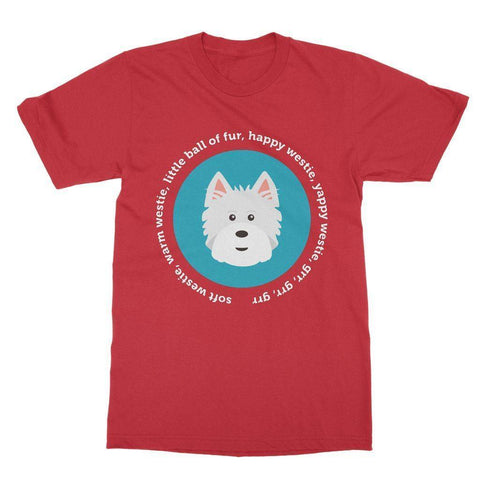 Happy Westie - Big Bang Theory Softstyle T-shirt Apparel kite.ly S Red
