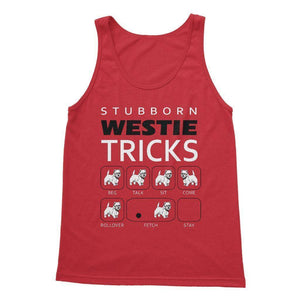 Stubborn Westie Tricks Softstyle Tank Top Apparel kite.ly S Red