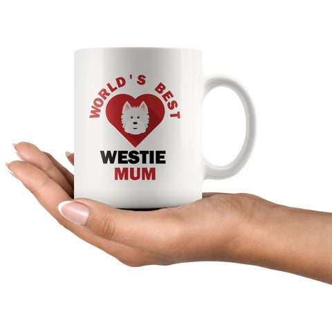 World's Best Westie Mum Mug Drinkware teelaunch