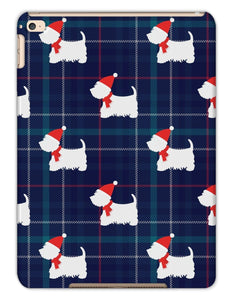 Blue Tartan Westie in a Hat and Scarf Tablet Cases Phone & Tablet Cases kite.ly iPad Air 2 Matte
